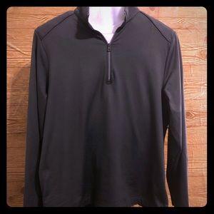 Men's charcoal grey long sleeve 3/4 zip EUC